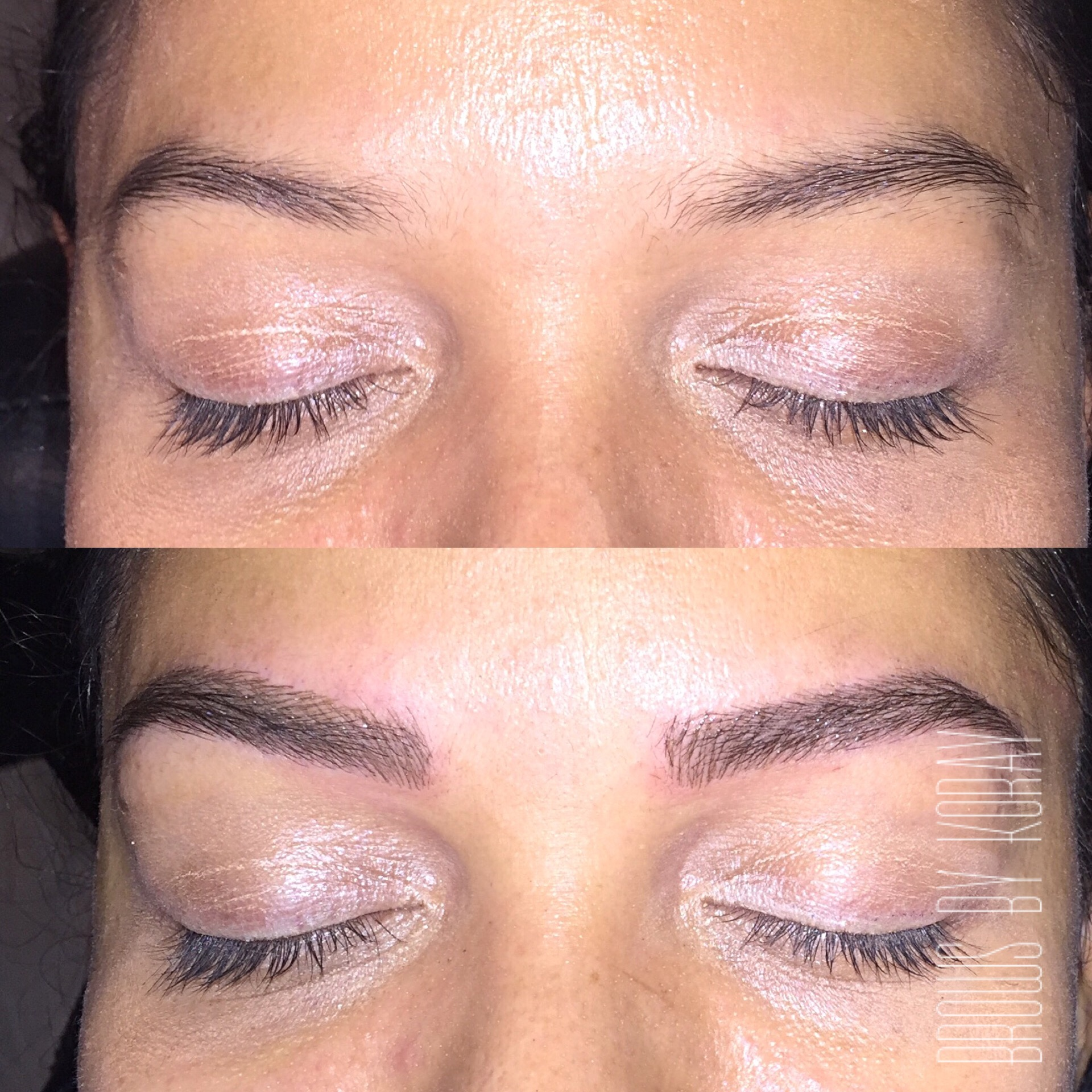Before And After Pictures Of 3d Eyebrow Embroidery 3 D Eyebrow New